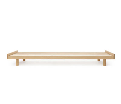 Oak bed frame by Bautier