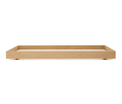 Oak bed single by Bautier