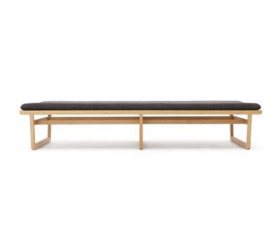 Oak bench large by Bautier