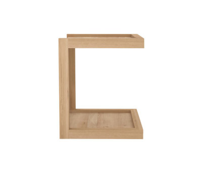 Oak Frame sofa side table by Ethnicraft