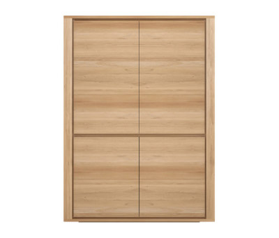 Oak Shadow storage cupboard by Ethnicraft
