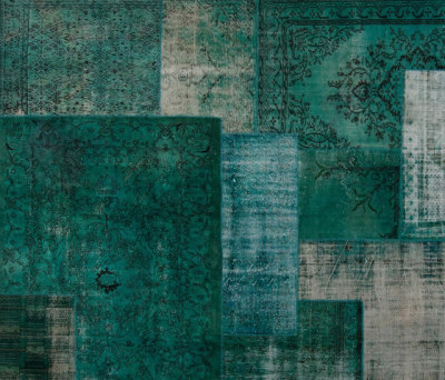 Patchwork Decolorized turquoise by GOLRAN 1898