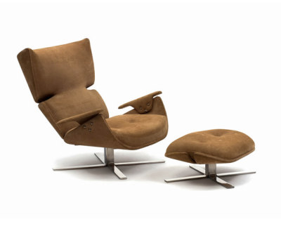 Paulistana Lounge Chair with Ottoman by Espasso