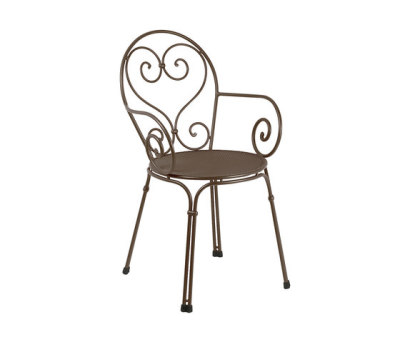 Pigalle armchair - set of 4 Indian Brown