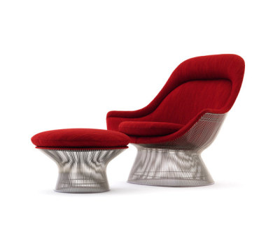 Platner Easy Chair + Ottoman by Knoll International