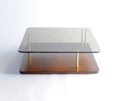 Points of Interest Coffee Table, Wood Base by Phase Design