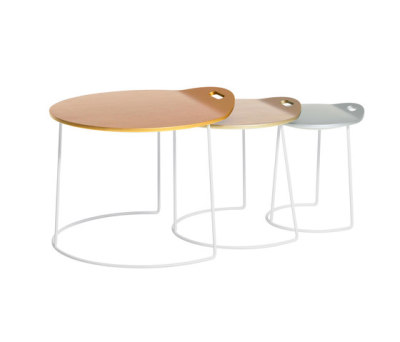 Pompaples 3 nesting tables by Atelier Pfister