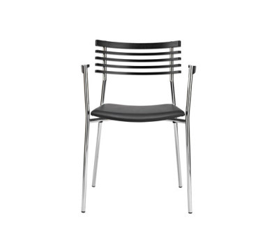Rail chair with armrests by Randers+Radius