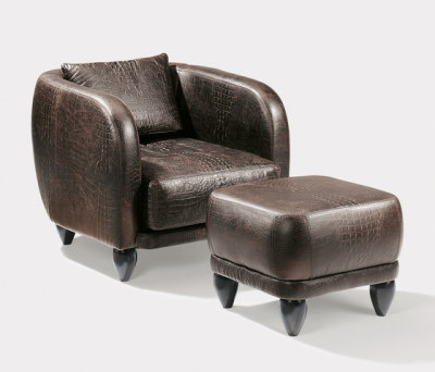 Regent armchair & stool by Lambert