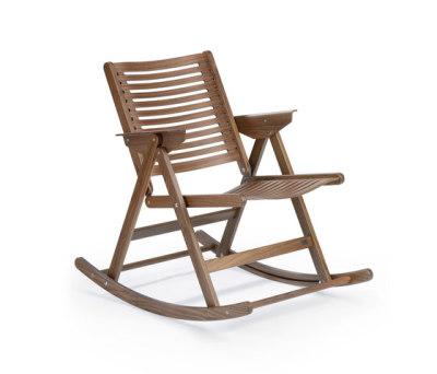 Rex Rocking Chair walnut by Rex Kralj