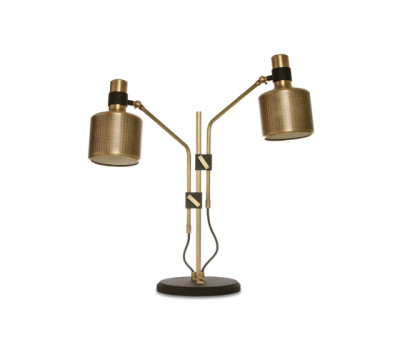 Riddle Table Lamp Black & Brass by Bert Frank