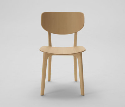 Roundish Armless Chair (Wooden seat) by MARUNI