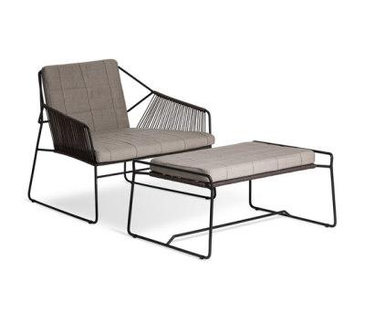 Sandur Club Chair Full Woven   Sandur Foot Stool by Oasiq