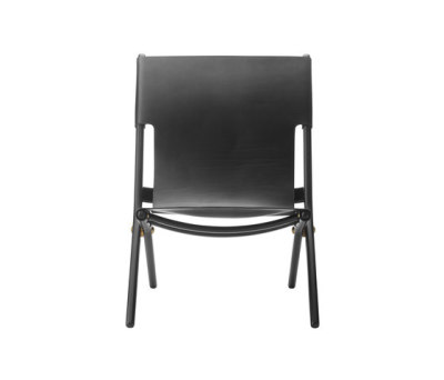 Saxe, black stained oak # black leather by by Lassen