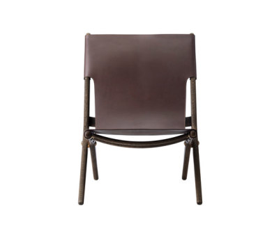 Saxe, smoked oak # brown leather by by Lassen