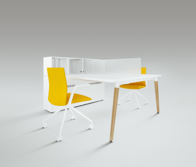 Scando Two-seat office desk by Ergolain