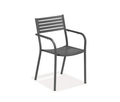 Segno armchair - set of 4 Antique Iron