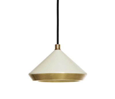 Shear Pendant White & Brass by Bert Frank