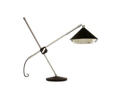 Shear Table Lamp Black & Chrome by Bert Frank