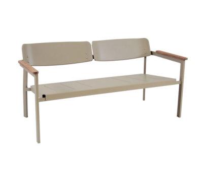 Shine two seats sofa Grey