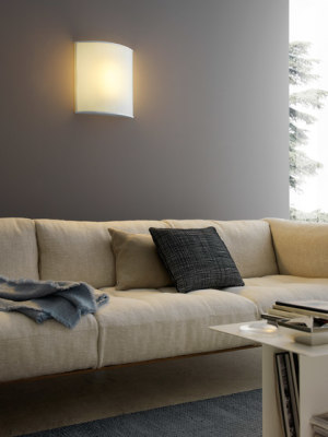 Simple White Wall lamp by FontanaArte