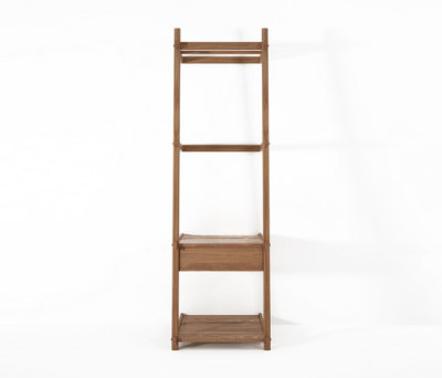 Simply City LADDER STANDING HANGER with DRAWER & SHELVES by Karpenter