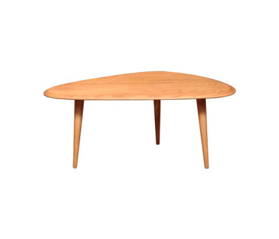 Small Coffee Table Solid Oak Top by Red Edition