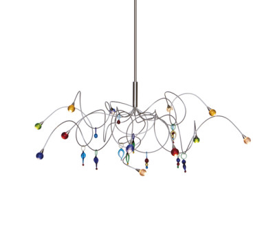 Strawberry pendant light 12-multicolor by HARCO LOOR