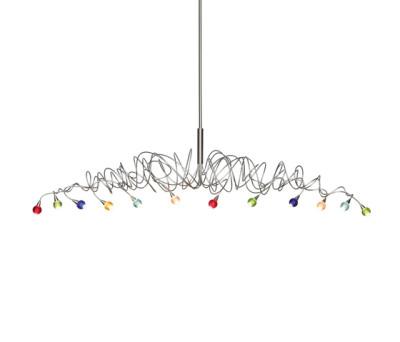 Sweet long pendant light 12-multicolor by HARCO LOOR