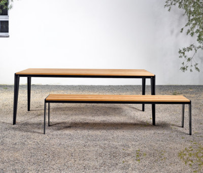 Table and bench at_14 by Silvio Rohrmoser
