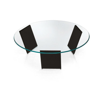 Tango Round Coffee Table Black Legs, Diameter 100 cm