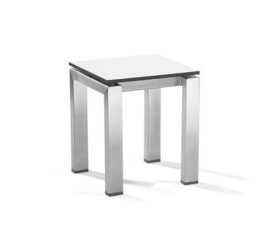 Trento footstool/sidetable by Manutti