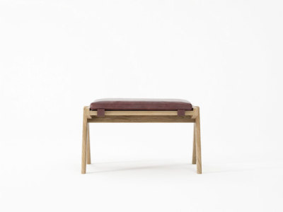 Tribute OTTOMAN with LEATHER Dark Brownie by Karpenter