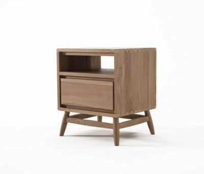 Twist SIDE / BEDSIDE TABLE W/ DRAWER by Karpenter