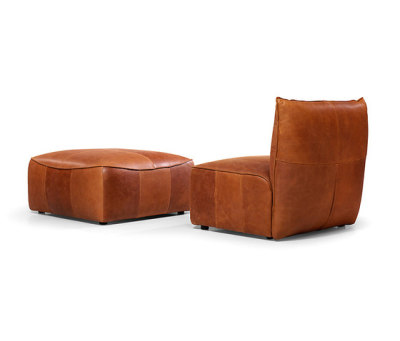 Vasa armchair without arms with pouf by Jess Design