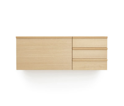Wall desk unit and wall drawer unit by Bautier