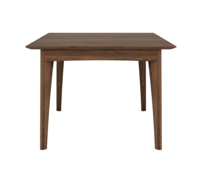 Walnut Osso square dining table by Ethnicraft