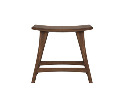 Walnut Osso stool by Ethnicraft