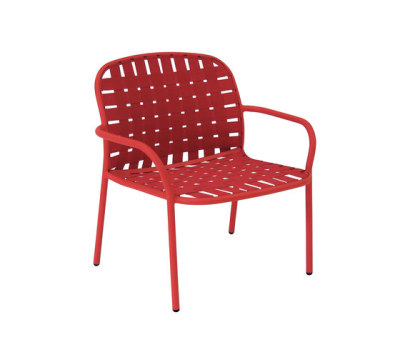 Yard lounge chair - set of 2 Scarlet Red/96