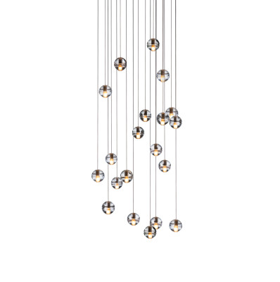 14.20 Pendant Chandelier Amber, LED, Wet