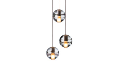 14.3 Three Pendant Chandelier Clear, Xenon