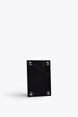 A Frame Pictureframe Black Marquina Marble, Small (A5)