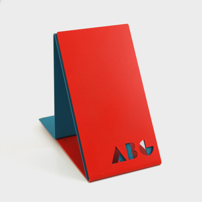 ABC Bookends Red