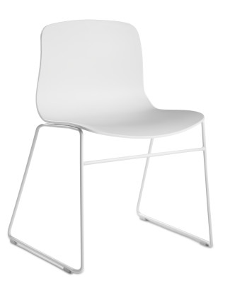 About A Chair AAC08 White Seat and Black Base
