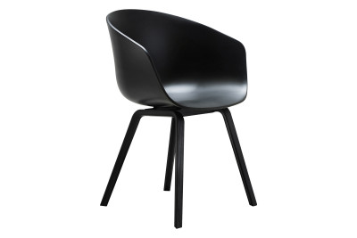 About A Chair AAC22 Black Stained Oak, Black