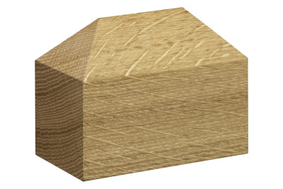 AC10 Haus Paper Weight, Hip Roof Oiled Oak