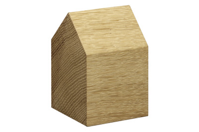 AC10 Haus Paper Weight, Saddle Roof Oiled Oak, Short