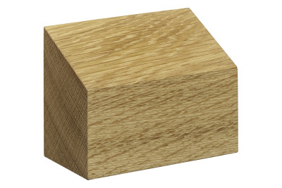 AC10 Haus Paper Weight, Shed Roof Oiled Oak