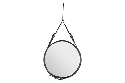 Adnet Circular Mirror Black, Small
