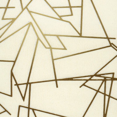 Angles Wallpaper Cream and Gold